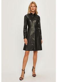 Czarna sukienka MAX&Co. na co dzień, casualowa, z długim rękawem, mini