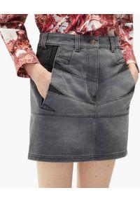 Kenzo - KENZO - Szara spódnica jeansowa. Stan: podwyższony. Kolor: szary. Materiał: jeans