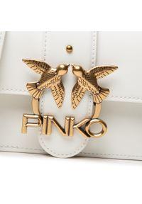 Pinko - Torebka PINKO - Love Mini Icon Simply 11 Cl. 20212 PLTT 1P22AF.Y6XT White Z14. Kolor: biały. Materiał: skórzane