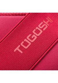 Czerwone półbuty na koturnie Togoshi z cholewką