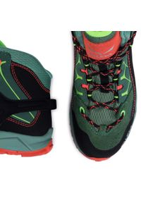 Zielone buty trekkingowe Salewa z cholewką, z cholewką za kostkę