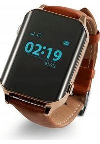 Brązowy zegarek NoName smartwatch