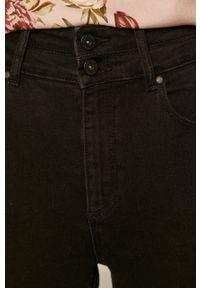 Czarne jeansy medicine z podwyższonym stanem #4