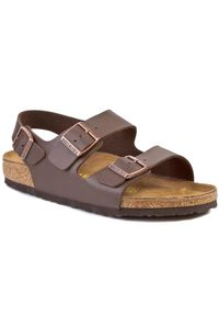 Brązowe sandały Birkenstock klasyczne, na lato