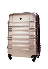 Solier - Walizka kabinowa ABS 55x37x24cm STL838 champagne. Kolor: beżowy. Materiał: kauczuk, materiał, guma