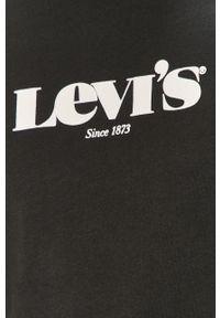 Czarny t-shirt Levi's® z nadrukiem, casualowy, na spotkanie biznesowe #5