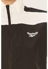 Czarna kurtka Reebok Classic bez kaptura, na co dzień, casualowa