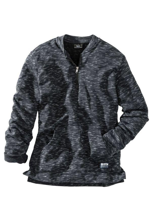 Czarna bluza bonprix melanż
