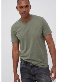 Tom Tailor - T-shirt. Okazja: na co dzień. Kolor: zielony. Materiał: bawełna, dzianina. Wzór: gładki. Styl: casual