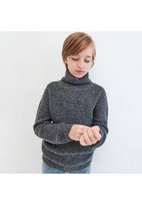 Szary sweter Reserved melanż, z golfem