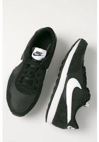 Czarne buty sportowe Nike Kids z cholewką, na sznurówki, z okrągłym noskiem