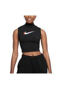 Koszulka damska Nike Sportswear Tank Mock DM4602. Materiał: bawełna, dzianina, poliester. Długość rękawa: bez rękawów