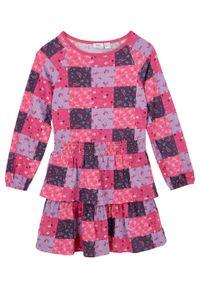 Różowa sukienka bonprix z nadrukiem