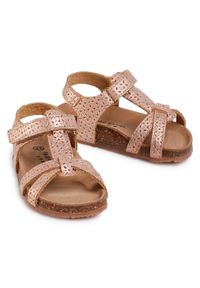 Złote sandały Sergio Bardi Young na lato
