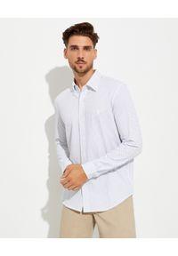 Ralph Lauren - RALPH LAUREN - Koszula w kropki Custom Fit Featherweight. Typ kołnierza: button down, polo. Kolor: biały. Materiał: bawełna, tkanina. Wzór: kropki