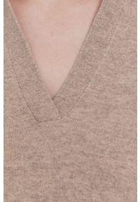 Samsoe & Samsoe - Samsoe Samsoe - Sweter. Okazja: na co dzień. Kolor: beżowy. Długość rękawa: długi rękaw. Długość: długie. Styl: casual #5