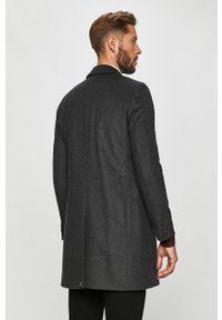 Szary płaszcz Tommy Hilfiger Tailored na co dzień, casualowy, bez kaptura