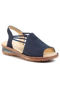 Niebieskie sandały Ara na co dzień, casualowe