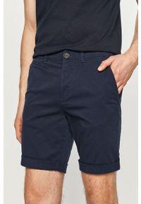 Niebieskie szorty PRODUKT by Jack & Jones gładkie, casualowe, na co dzień