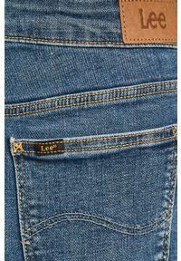 Niebieska spódnica Lee gładkie, z podwyższonym stanem, na co dzień