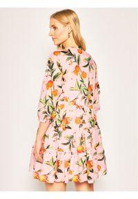 Różowa sukienka iBlues prosta, casualowa
