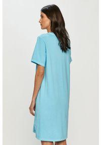 Niebieska sukienka Levi's® prosta, na co dzień, gładkie
