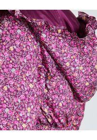 LOVE SHACK FANCY - Puchowa kurtka Modena. Typ kołnierza: kaptur. Kolor: wielokolorowy, fioletowy, różowy. Materiał: puch. Wzór: kwiaty, aplikacja, nadruk