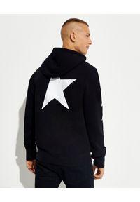 GOLDEN GOOSE - Czarna bluza z gwiazdą Alighiero. Kolor: czarny. Materiał: bawełna. Długość rękawa: długi rękaw. Długość: długie. Wzór: aplikacja. Styl: klasyczny