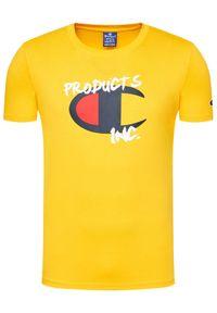 Champion T-Shirt Grafitti 214344 Żółty Comfort Fit. Kolor: żółty