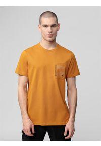 Żółta koszulka sportowa 4f z nadrukiem