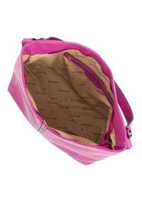 Różowa torebka worek Wittchen casualowa