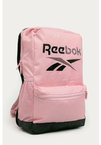 Reebok - Plecak. Kolor: różowy. Materiał: materiał, poliester. Wzór: nadruk #3