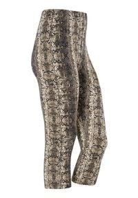 Cellbes Wzorzyste legginsy 3/4 beżowy Nadruk skóry węża female beżowy/ze wzorem 38/40. Kolor: beżowy. Materiał: guma, jersey. Wzór: nadruk