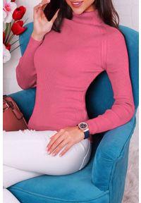 Różowa bluzka IVET z golfem
