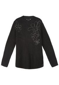 Czarny sweter TOP SECRET na co dzień, na jesień, casualowy