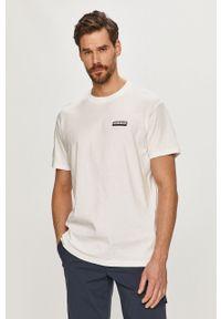 Biały t-shirt Napapijri casualowy, gładki, na co dzień