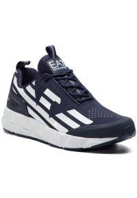 Niebieskie sneakersy EA7 Emporio Armani