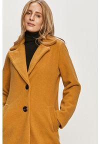 Żółty płaszcz Haily's na co dzień, bez kaptura