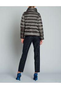 SEDUCTIVE - Spodnie z dziewiczej wełny. Kolor: niebieski. Materiał: wełna. Wzór: grochy. Styl: elegancki