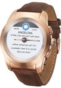 MYKRONOZ - Smartwatch MyKronoz Zetime Regular Premium Brązowy (001598750000). Rodzaj zegarka: smartwatch. Kolor: brązowy