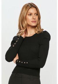 Czarny sweter Silvian Heach długi, gładki, z długim rękawem