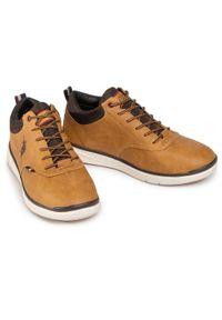 U.S. Polo Assn - Sneakersy U.S. POLO ASSN. - Cree1 Club YGOR4125W9/U2 Tan. Okazja: na co dzień. Kolor: brązowy. Materiał: skóra ekologiczna, materiał. Szerokość cholewki: normalna. Styl: casual