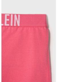 Różowa piżama Calvin Klein Underwear z nadrukiem