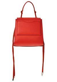 Srebrna torebka Patrizia Pepe w kolorowe wzory, na ramię