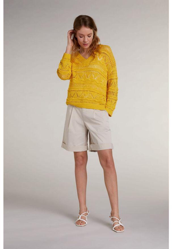 Żółty sweter z wycięciami Oui. Kolor: żółty