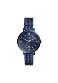 Niebieski zegarek Fossil biznesowy