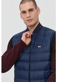Tommy Jeans - Bezrękawnik puchowy. Okazja: na co dzień. Kolor: niebieski. Materiał: puch. Długość rękawa: bez rękawów. Styl: casual