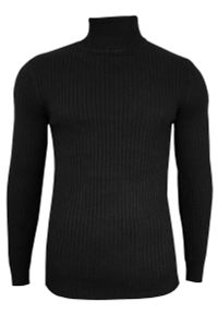 Czarny sweter Brave Soul na jesień, elegancki, z golfem