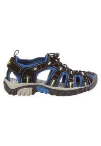 Sandały dla dzieci McKinley Vapor II 185225. Okazja: na co dzień, na spacer. Zapięcie: rzepy. Materiał: guma, skóra, materiał, syntetyk. Sezon: lato. Styl: casual, młodzieżowy
