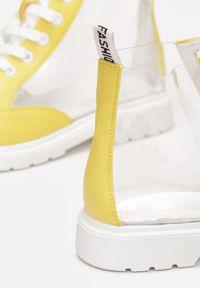 Żółte płaskie botki Renee